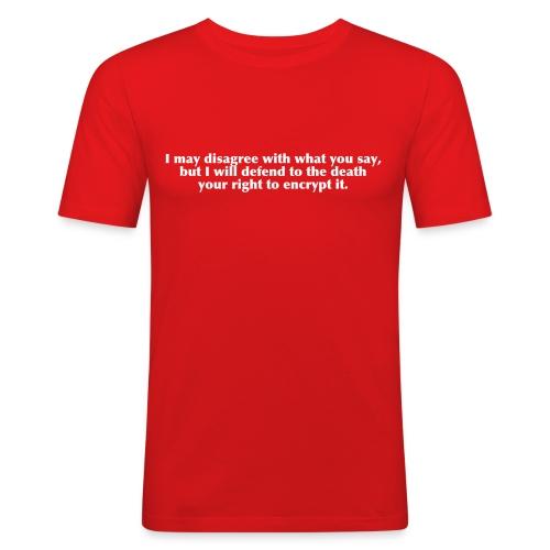 I may disagree - Männer Slim Fit T-Shirt