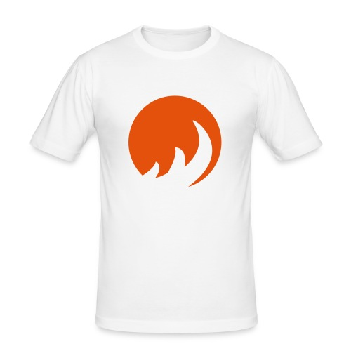 Orange Flame Fitted T-Shirt - Men's Slim Fit T-Shirt