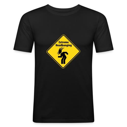 Shirt-schwarz - Männer Slim Fit T-Shirt