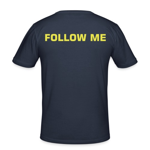 FOLLOW ME T-Shirt, dark navy - Männer Slim Fit T-Shirt