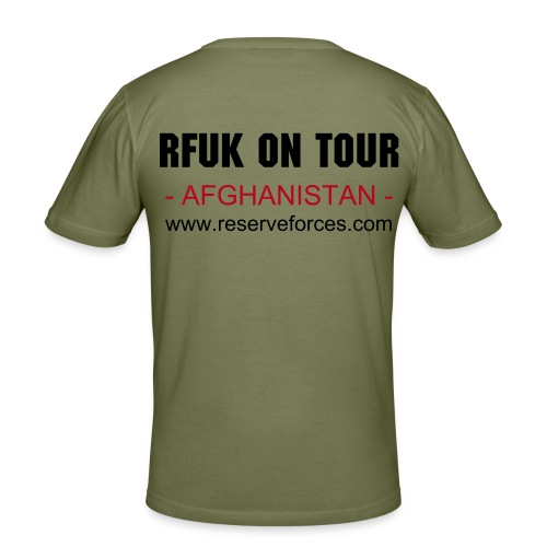 Sandy RFUK On Tour Fitted Tee (Afghanistan) - Men's Slim Fit T-Shirt