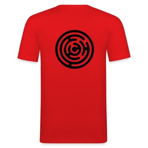 Circle in Square - Men's Slim Fit T-Shirt