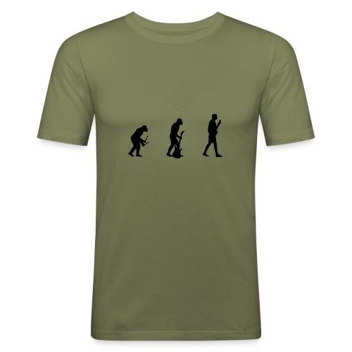 Evolution of Rock2 - Männer Slim Fit T-Shirt