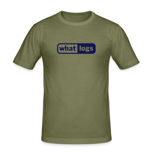 what logs - Männer Slim Fit T-Shirt