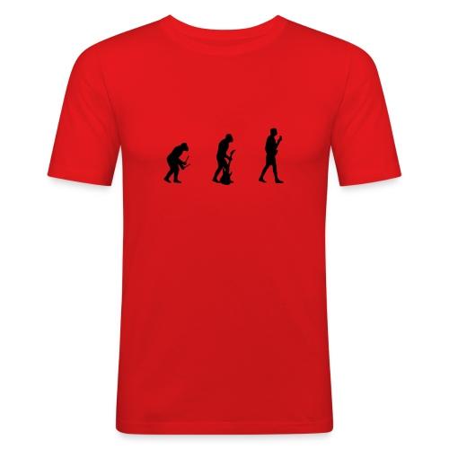 Music Evolution - Männer Slim Fit T-Shirt