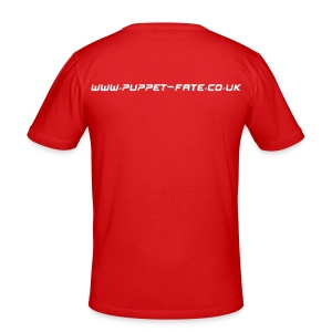Burn the Puppet Red/White Fit-T - Men's Slim Fit T-Shirt