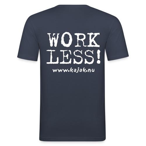 Kayak More Work Less - Vitt - Men's Slim Fit T-Shirt