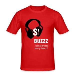 t-shirt buzzz in my head - Tee shirt près du corps Homme