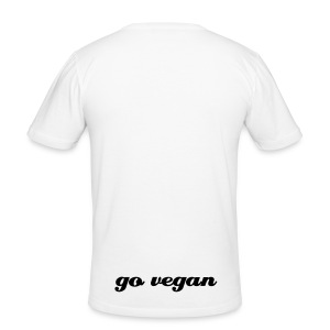 slim fit go vegan white - Männer Slim Fit T-Shirt