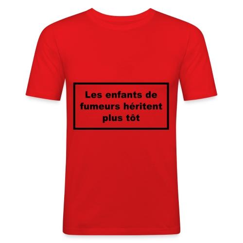 fils ou fille de.... - T-shirt près du corps Homme