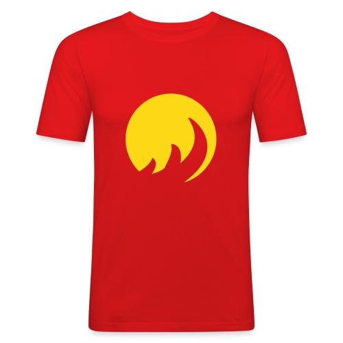 T-Shirt cercle de flamme - T-shirt près du corps Homme