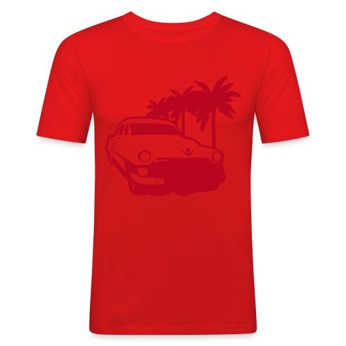 Lowrider OrangeRöd - Slim Fit T-shirt herr