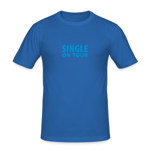 SINGLE ON TOUR - Männer Slim Fit T-Shirt
