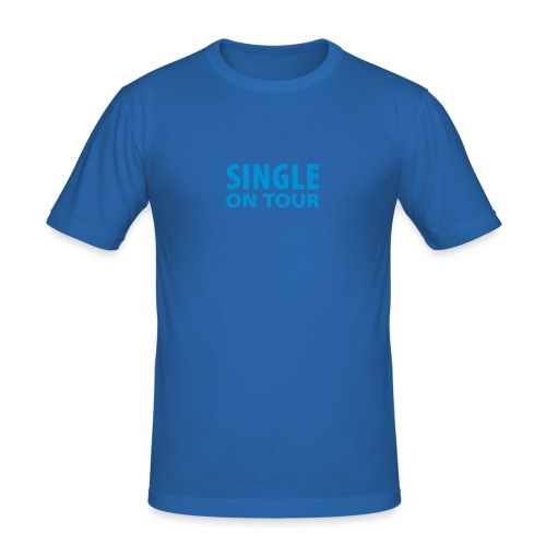 SINGLE ON TOUR - Männer Slim Fit T-Shirt