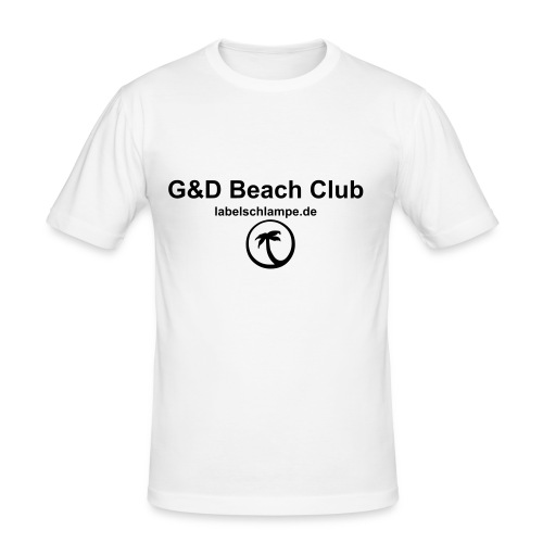 Labelschlampe Beach Club - Männer Slim Fit T-Shirt