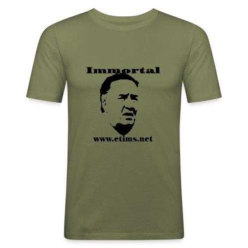 Immortal - Hanes Fit-T Olive - Men's Slim Fit T-Shirt