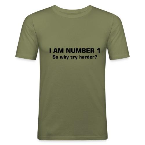 no.1 tee - Men's Slim Fit T-Shirt