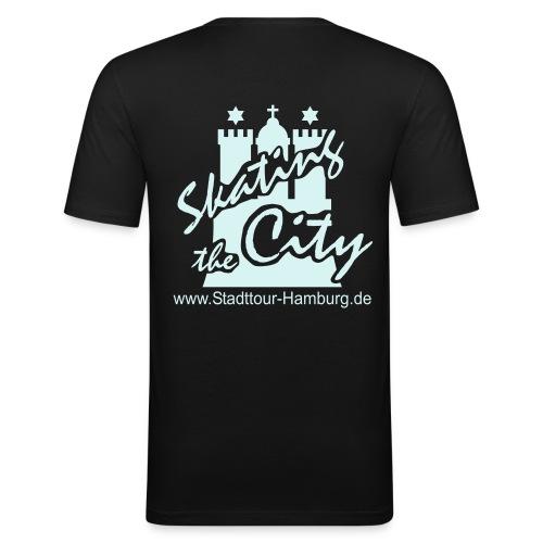 mit Reflexbeschriftung - Männer Slim Fit T-Shirt