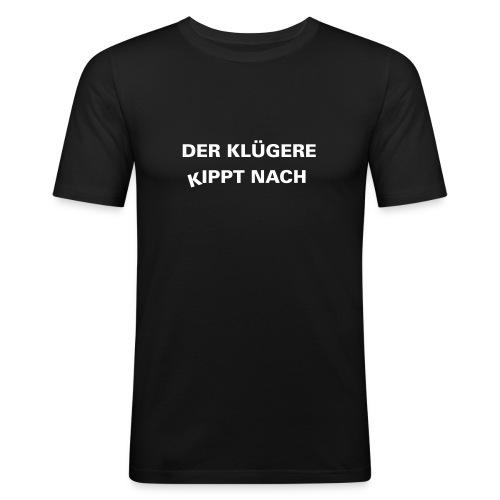 T-Shirt-Schwarz - Männer Slim Fit T-Shirt