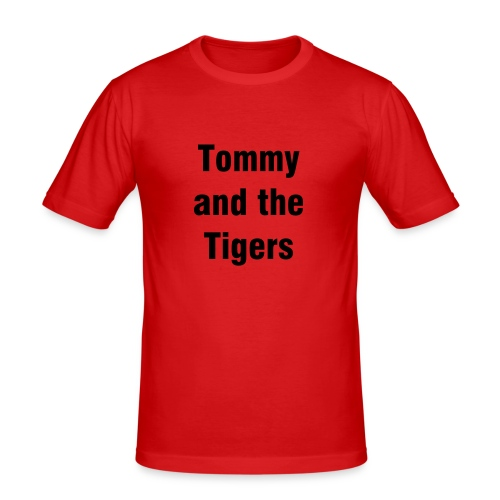 Tommy and the Tigers Orange Fitted T - Men's Slim Fit T-Shirt