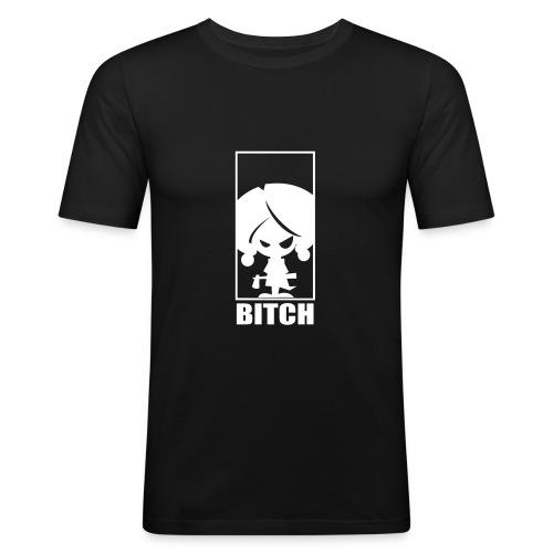 Bitch - Miesten tyköistuva t-paita