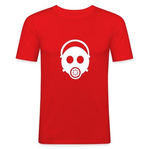Gasmask o/w - Männer Slim Fit T-Shirt