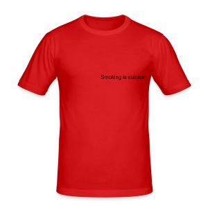 Smoking Is Suicide - Men's Slim Fit T-Shirt