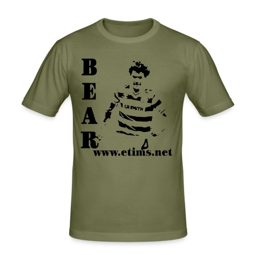 Feed The Bear - Hanes Fit-T Olive - Men's Slim Fit T-Shirt