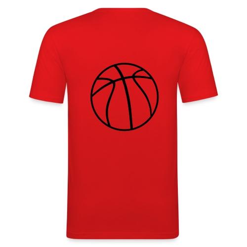 Basketball orange-schw - Männer Slim Fit T-Shirt