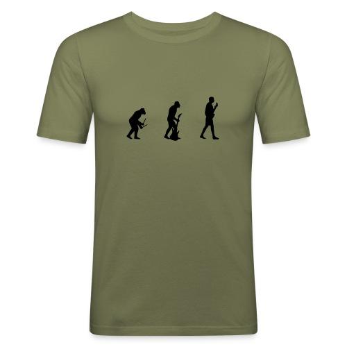 Evolution Of Musician - Men's Slim Fit T-Shirt