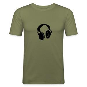headphones tee - Men's Slim Fit T-Shirt