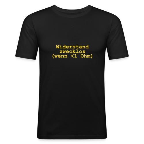Widerstand - Männer Slim Fit T-Shirt