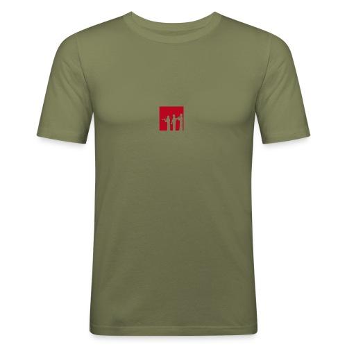 Musikschul T-Shirt (olive) - Männer Slim Fit T-Shirt