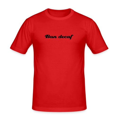 Orange Ban Decaf - Men's Slim Fit T-Shirt