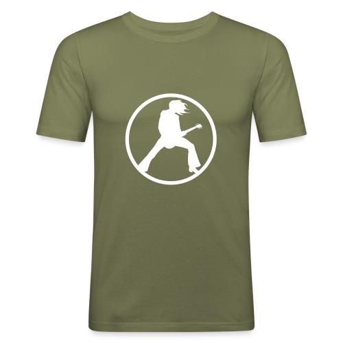 Guitarist - Olive - Männer Slim Fit T-Shirt