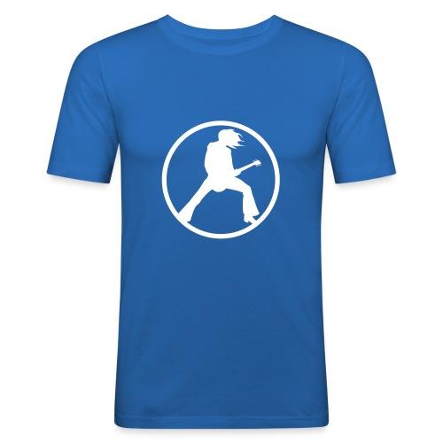 Guitarist - Blau - Männer Slim Fit T-Shirt