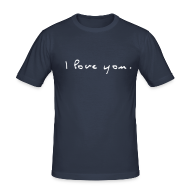 T-Shirts ~ Männer Slim Fit T-Shirt ~ I love You