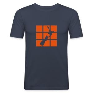 NZ Outline Squares Mens T-shirt - Men's Slim Fit T-Shirt