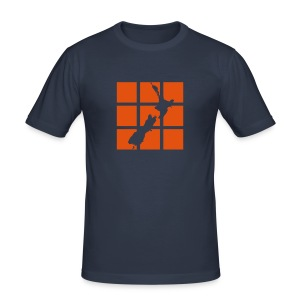 NZ Outline Squares Mens T-shirt - Men's Slim Fit T-Shirt