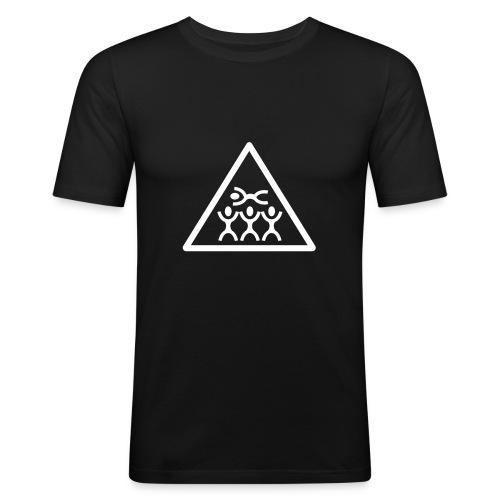 Black Crowdsurfing - Men's Slim Fit T-Shirt