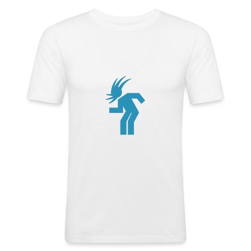White Headbanger - Men's Slim Fit T-Shirt