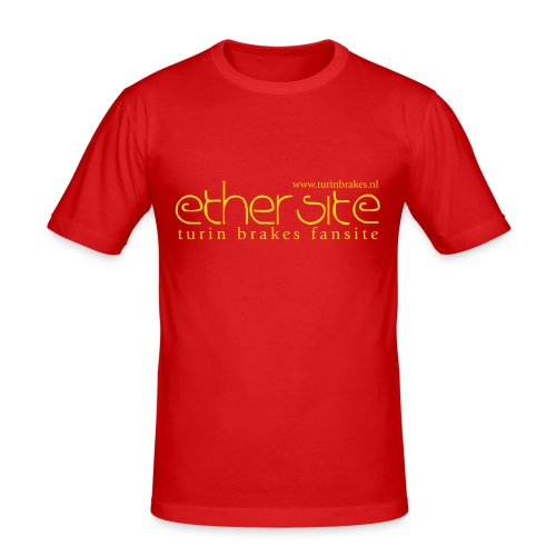 Ether Red Shirt - Men's Slim Fit T-Shirt