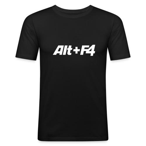 Alt + F4 - Männer Slim Fit T-Shirt