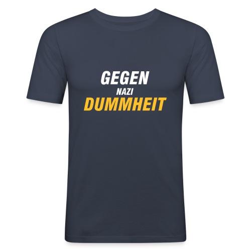 Gegen Nazis - Männer Slim Fit T-Shirt