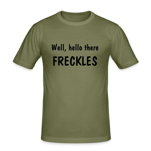 Well, hello there, Freckles [LOST] - Men's Slim Fit T-Shirt