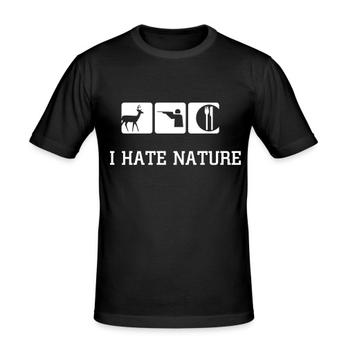 I hAte NATURE - T-shirt près du corps Homme