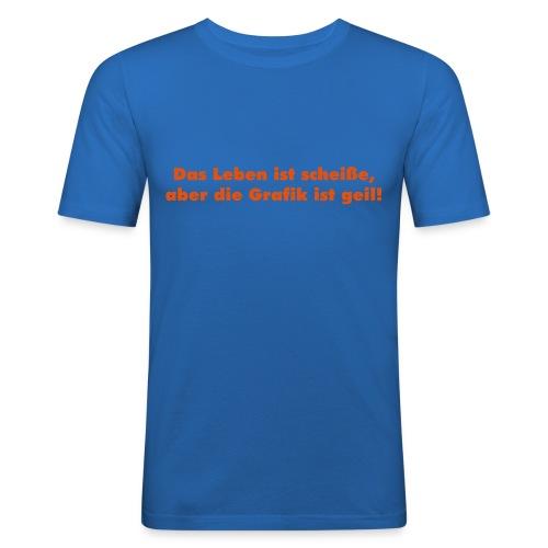 Das Leben - Männer Slim Fit T-Shirt