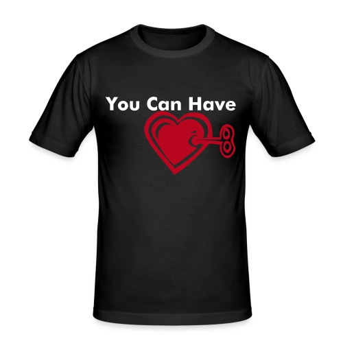 """""""You Can Have the Key to My Heart"""" T-Shirt by KISS MY ASS - Men's Slim Fit T-Shirt"""
