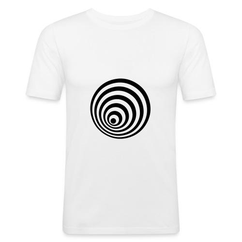 Ellipsen T'shirt (white) - Men's Slim Fit T-Shirt