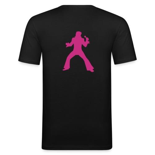 Pink Elvis - Männer Slim Fit T-Shirt